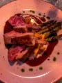 Lamb cutlets with asparagus and apricots main portion
