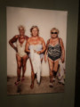 Three older woman in bathing suits